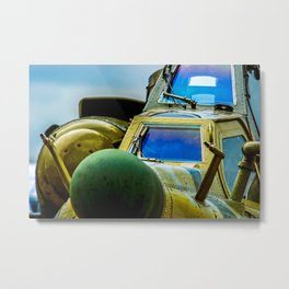 Armored Cockpit And A Front Radar Of A Modern Military Attack Helicopter Metal Print