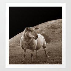 The sheep of mare crisium Art Print