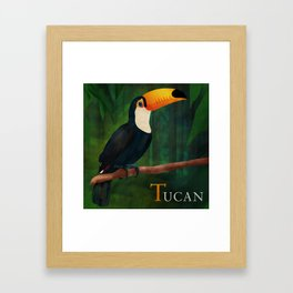 ABC Poster  T - Tucan Framed Art Print