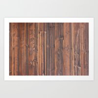 wooden Art Prints featuring wooden by Katharina Nachher
