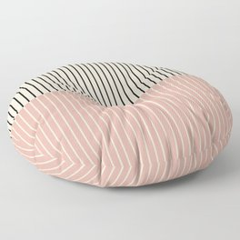 Color Block Lines XIV Vintage Pink Floor Pillow
