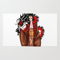mulan Area & Throw Rugs featuring Mulan by artwaste