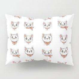 Peach precious kittycats Pillow Sham