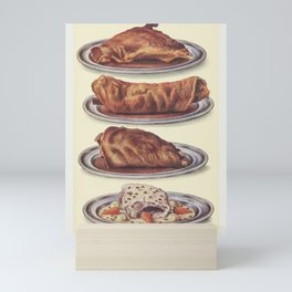 Joints Roast Haunch of Mutton Roast Saddle of Lamb Roast Leg of Mutton and Boiled Neck of Mutton wit Mini Art Print