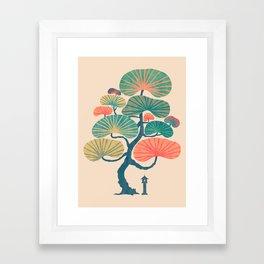Japan garden Framed Art Print