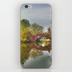 Fall at Central Park 2 iPhone & iPod Skin