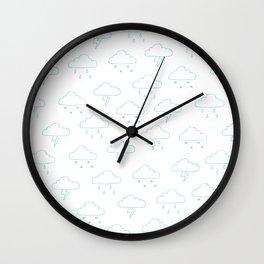 Precipitation Outline Wall Clock
