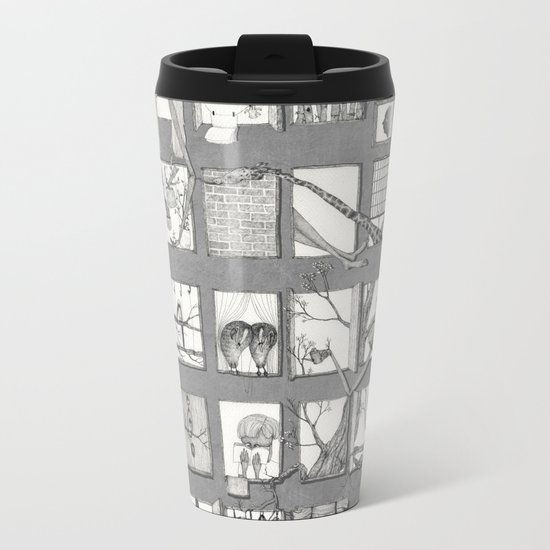 my window Metal Travel Mug