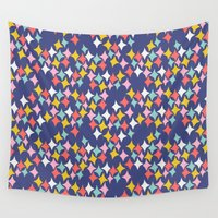 diamonds Wall Tapestries featuring Diamonds by heidi kenney