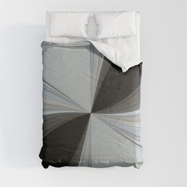 Brown and Grey Tones of Eucalyptus Swirl Pattern Comforters