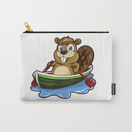 Funny Boating Beaver Cartoon Boat Rafting Canoe Carry-All Pouch