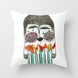 Lost and singing Yeti Throw Pillow