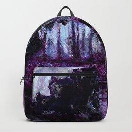 Monet : Poplars Purple Violet Indigo Backpack
