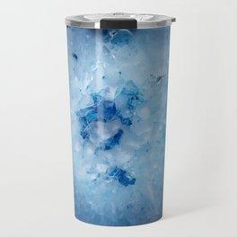 Icy Blue Agate Slice Travel Mug