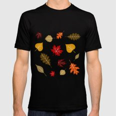 When The Leaves Fall Black Mens Fitted Tee MEDIUM