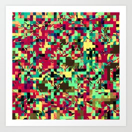 Pixelated 1 Art Print