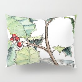 Christmas Holly, Illustration Pillow Sham