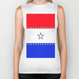 Red, White and Blue - 1 Biker Tank