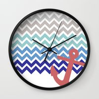 nautical Wall Clocks featuring Nautical  by emain
