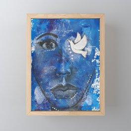 Come Thru Dove Framed Mini Art Print