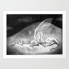 Weak and Weary Art Print