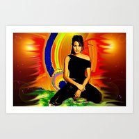 angelina jolie Art Prints featuring Angelina Jolie by JT Digital Art
