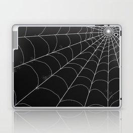 Spiderweb on Black Laptop & iPad Skin