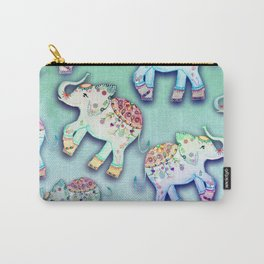 ELEPHANT PARTY MINT Carry-All Pouch