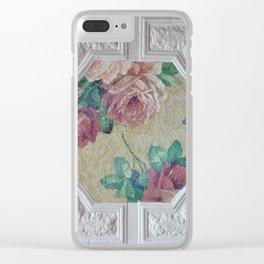 Antique Ceiling Tile * Art tile * Victorian Roses Clear iPhone Case