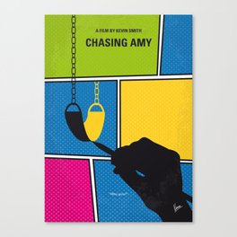 No910 My Chasing Amy minimal movie poster Canvas Print