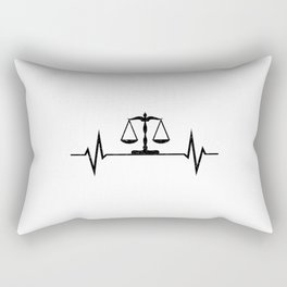Scales Of Justice Heartbeat Lawyer Judge Rectangular Pillow