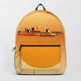 Horizon Sunset Orange Blue Backpack