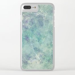 Iced Abstract Clear iPhone Case