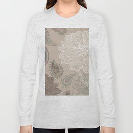 Cocoa Paisley V Long Sleeve T-shirt