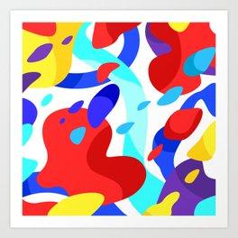 colors in my dream Art Print
