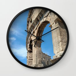pula croatia ancient arena amphitheatre high Wall Clock