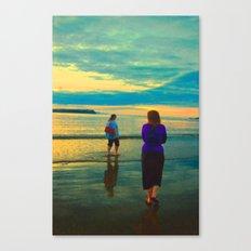 Beach Chillaxing Canvas Print