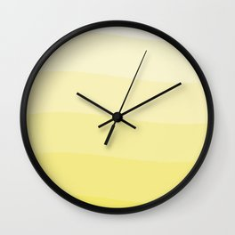 Six shades of yellow. Wall Clock