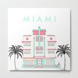 Miami Art Deco Vibes Metal Print