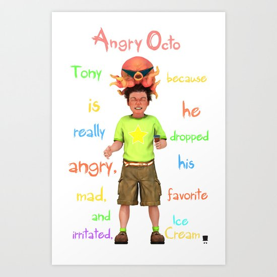 Angryocto - Tony's IceCream Art Print