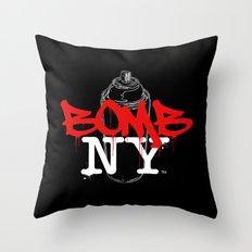 BOMB NY Throw Pillow