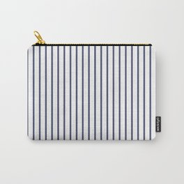 Posey Violet Thin Pinstripe on White Carry-All Pouch