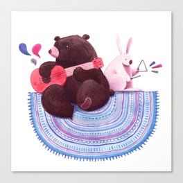 Bear & Bunny Canvas Print