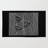 joy division Area & Throw Rugs featuring Triforce // Joy Division by Daniel Mackey