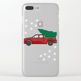 """Funny and cute """"Santa's Jeep Christmas Tree"""" Makes a nice and awesome gift for everyone this holiday Clear iPhone Case"""