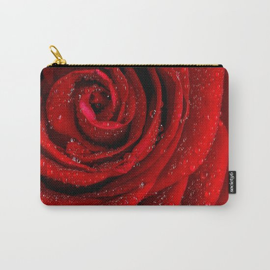 Red rose with sparkling droplets- Beautiful elegant Roses Carry-All Pouch