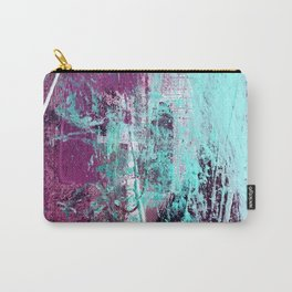 01012: a vibrant abstract piece in teal and ultraviolet Carry-All Pouch