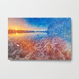 Acrylic Potomac Sunset Metal Print