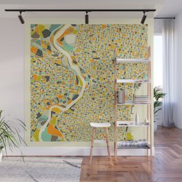 Philadelphia Map Wall Mural
