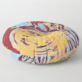 Dr Strange Magic Artistic Illustration Complementary Colors Style Floor Pillow